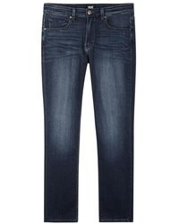 PAIGE - Federal Blue Straight-leg Jeans - Size W36 - Lyst