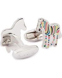 Paul Smith - Silver-tone Zebra Cufflinks - Lyst