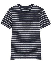 J.Lindeberg - Coma Striped Linen T-shirt - Lyst