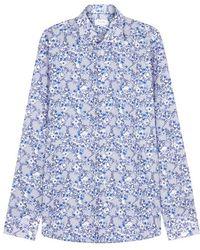 Eton of Sweden - Blue Slim Printed Poplin Shirt - Lyst