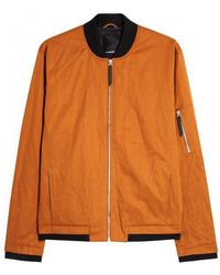 J.Lindeberg - Bounce Orange Twill Bomber Jacket - Lyst