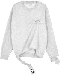 Collina Strada - Name Tag Cotton-blend Sweatshirt - Lyst