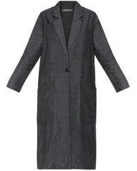 Varana - Long Collared Linen Coat - Lyst