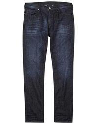 Emporio Armani - Navy Faded Slim-leg Jeans - Lyst