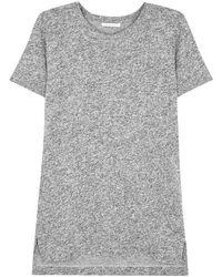 John Elliott - Grey Mélange Cotton Blend T-shirt - Lyst