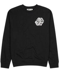 McQ - Black Logo-print Cotton Sweatshirt - Lyst