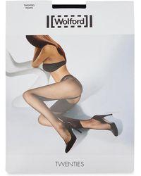 Wolford | Twenties Black Micro-fishnet Tights - Size L | Lyst