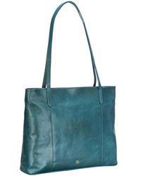 Maxwell Scott Bags - Stylish Petrol Leather Women S Tote Handbag - Lyst