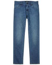 Fendi - Blue Stretch Denim Slim-leg Jeans - Lyst