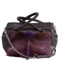 Sherene Melinda - Purple Box Bag With A Fan - Lyst