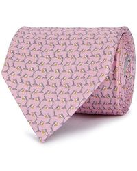Ferragamo - Pink Lamp-print Silk Tie - Lyst