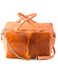 Sherene Melinda - Orange Box Bag With A Fan - Lyst