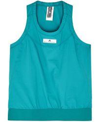 adidas By Stella McCartney - Run Adizero Turquoise Shell Tank - Lyst