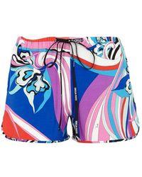 3e1d551822ea Emilio Pucci Cotton-twill Shorts in Brown - Lyst