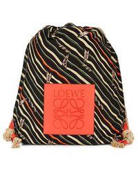 Loewe - X Paula's Ibiza Yago Canvas Backpack - Lyst