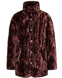 Collina Strada - Shelter Padded Velvet Jacket - Lyst