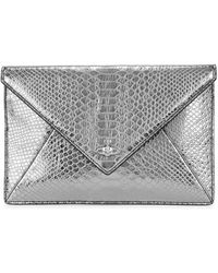 cb19f017ec Vivienne Westwood - Silver Snake-effect Leather Pouch - Lyst
