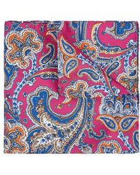 Eton of Sweden - Paisley-print Silk Pocket Square - Lyst