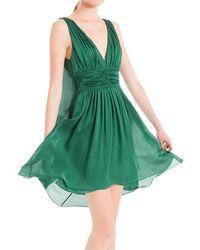 Leon Max - Translucent Silk Charmeuse Dress - Lyst