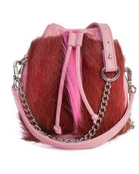 Sherene Melinda - Pink Lou Lou Pouch Bag With A Fan - Lyst