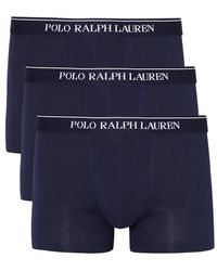 Polo Ralph Lauren - Navy Stretch Cotton Boxer Briefs - Set Of Three - Size M - Lyst