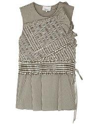 3.1 Phillip Lim - Gingham Shirred Cotton-blend Top - Lyst