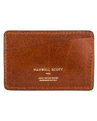 Maxwell Scott Bags - Italian Crafted Tan Leather Business Card Holder - Lyst
