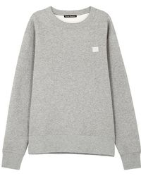 Acne Studios - Fairview Face Mélange Fleece-back Cotton-jersey Sweatshirt - Lyst