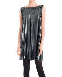 Max Studio - Pleated Metallic Dress - Lyst