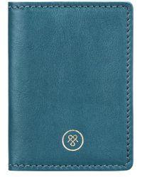 Maxwell Scott Bags - Petrol Full Grain Leather Oyster Card Case - Lyst