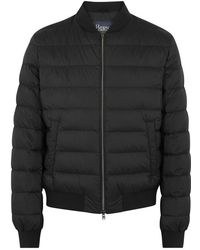 Herno - Black Quilted Shell Bomber Jacket - Lyst