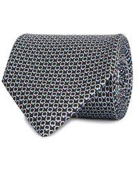 Ferragamo - Blue Printed Silk Tie - Lyst