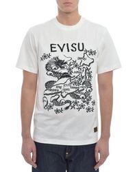 Evisu - Embroidery T Shirt - Lyst