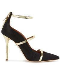 Malone Souliers - Robyn 100 Black Satin Court Shoes - Lyst