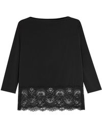 Wacoal | Chrystalle Lace-trimmed Pyjama Top | Lyst