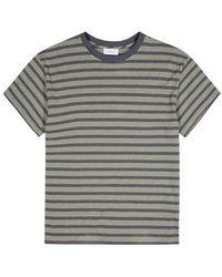 John Elliott - Striped Bouclé-knit Cotton-blend T-shirt - Lyst