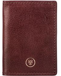 343b44667d1fd2 Maxwell Scott Bags - High Quality Leather Oyster Card Holder In Wine - Lyst