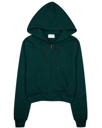 Cotton Citizen - Milan Green Hooded Cotton Sweatshirt - Lyst