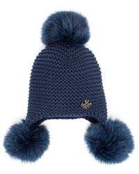 Mr & Mrs Italy - Fur Beanie Hat Knit Wool Groenlandia Fox Fur - Lyst