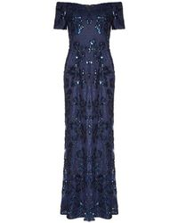 Adrianna Papell - Sequin Long Gown - Lyst