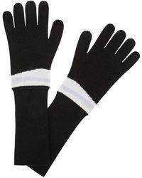 Duffy - Black Stripe-intarsia Cashmere Gloves - Lyst