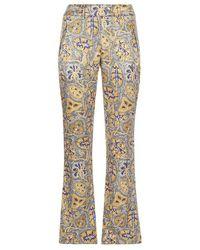 Varana - Silk Trousers With Artisanal Print - Lyst