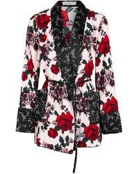 Equipment - Theron Floral-print Silk Kimono Jacket - Lyst