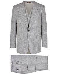 Cifonelli - Marbeuf Herringbone Silk-blend Suit - Lyst