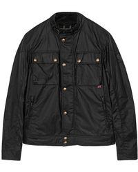 Belstaff - Racemaster Black Coated Cotton Jacket - Size 40 - Lyst