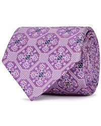 Eton of Sweden - Purple Medallion-jacquard Silk Tie - Lyst