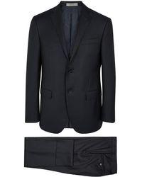 Corneliani - Navy Textured Wool Suit - Lyst