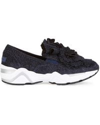 Suecomma Bonnie - Navy Lurex Appliquéd Trainers - Lyst