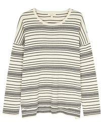 Eileen Fisher - Ecru Striped Organic Cotton Jumper - Lyst
