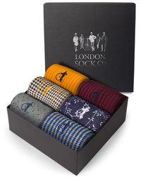 London Sock Co. - David Gandy Colour 6 Pair - Lyst